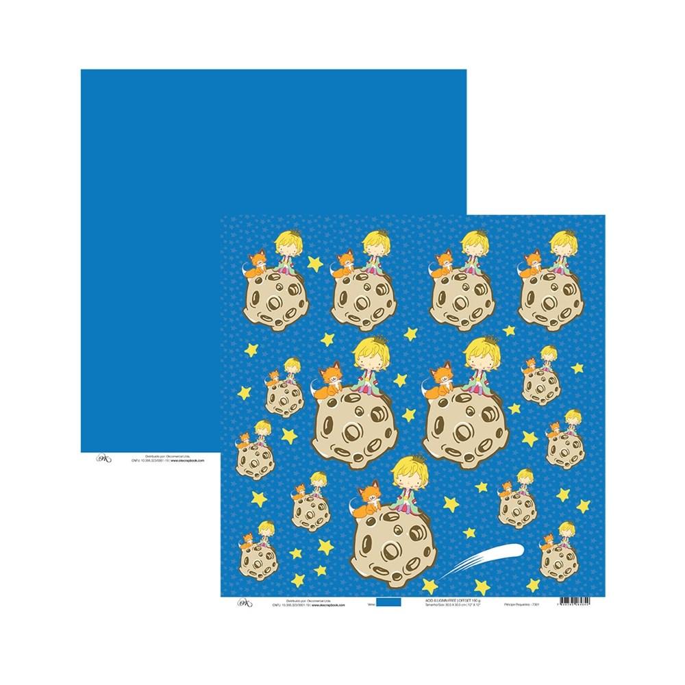 Papel de Scrap Principe Pequenino 30X30