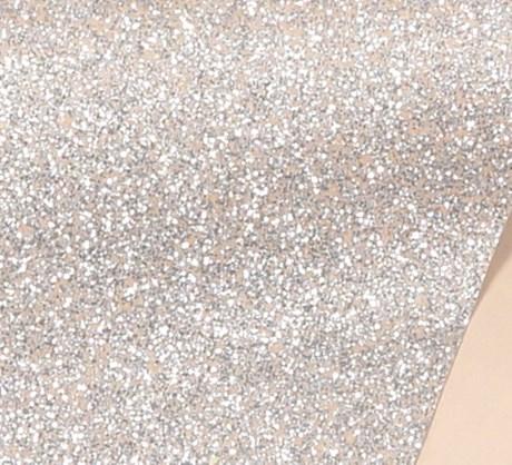 Papel de Scrap Rose com Glitter Prata 180gr 30x30