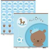 Papel de Scrap Urso Principe 30X30