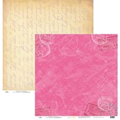Papel de Scrap Vintage Marcas Postais Rosa 30x30