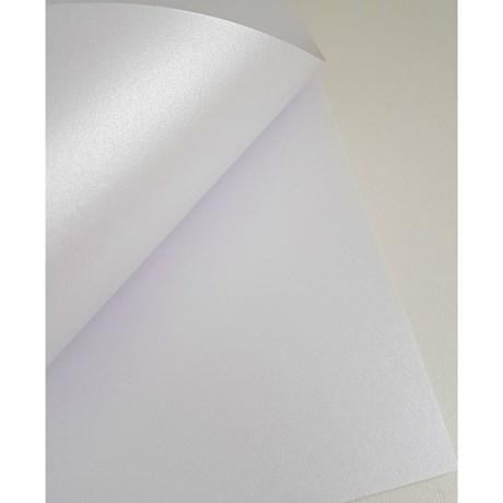 Papel Metalizado Dupla Face Liso Branco A4 180g