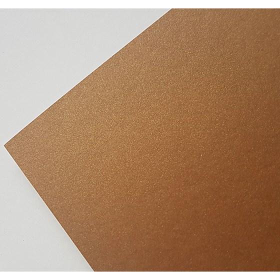 Papel Metalizado Dupla Face Liso Conhaque A4 180g