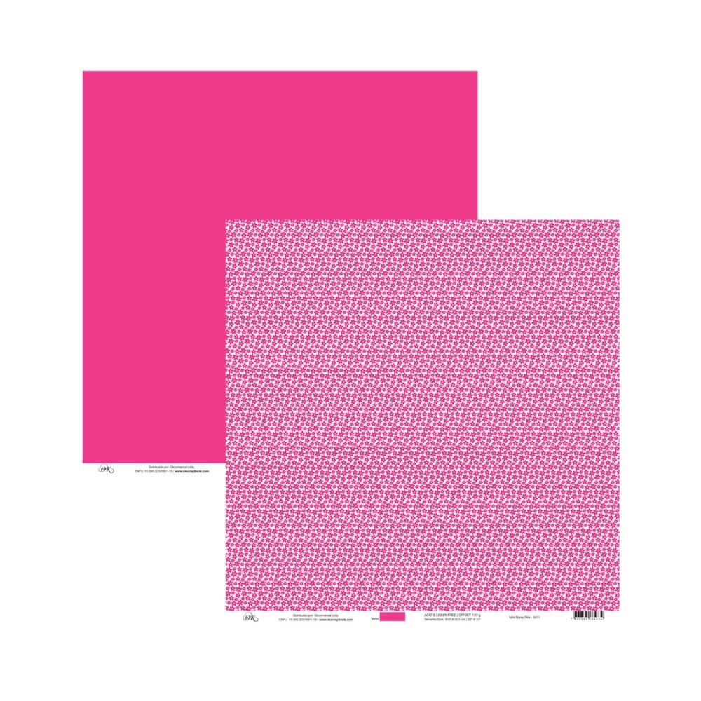 Papel Mini Flores Pink 30x30