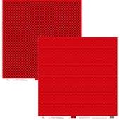 Papel Poa Grande e Medio Vermelho com Preto 30x30