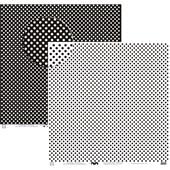 Papel Poa Grande Liso Preto E Branco