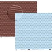 Papel Poa Médio com Frente E Verso Colorido Azul Claro E Marrom