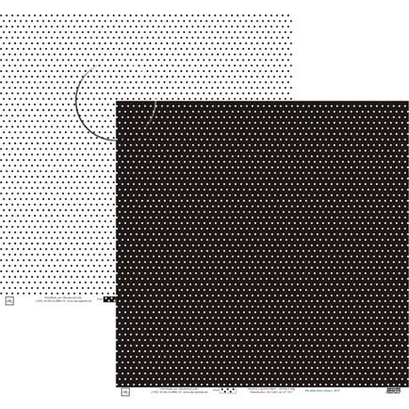 Papel Poa Médio com Frente E Verso Colorido Preto E Branco