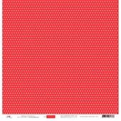 Papel Poa Médio com Frente E Verso Colorido Verm Tomate com Branco