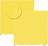 Papel Poa Médio Liso com Bolinha Amarelo