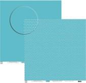 Papel Poa Médio Liso com Bolinha Azul Escuro