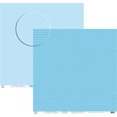 Papel Poa Médio Liso com Bolinha Azul Light