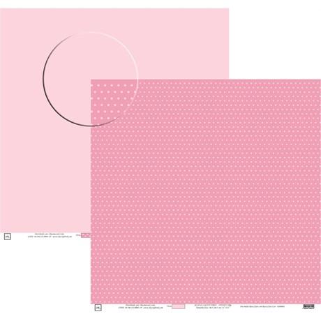 Papel Poa Médio Liso com Bolinha Pink