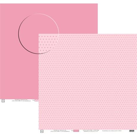 Papel Poa Médio Liso com Bolinha Rosa Claro