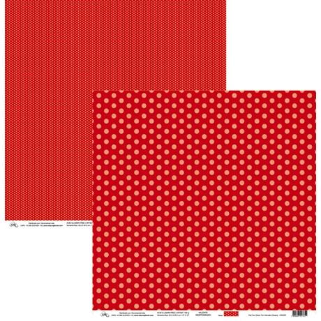 Papel Poá Tom-Sobre-Tom Vermelho Dreamy 30 x 30cm