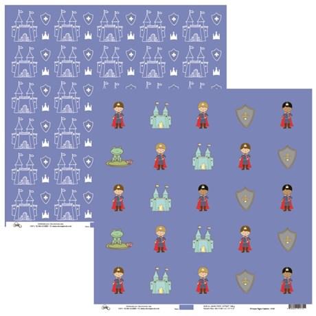 Papel Principes Mini Tags E Castelos 30X30 Ok Scrapbook