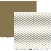 Papel Scrap Coroas Dourado 30 x 30cm