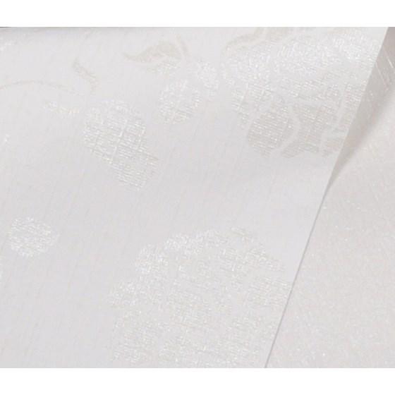 Papel Scrap Metalizado Estampa Branco c/ Flor 180gr 30