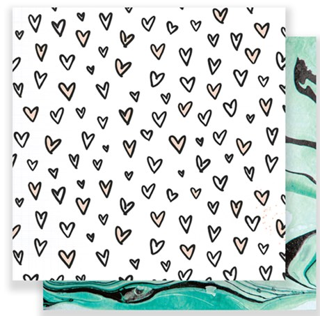 Papel Scrap Patterned Kisses