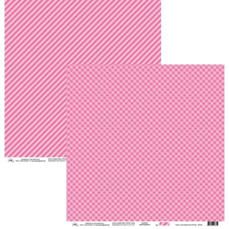 Papel Xadrez e Listra Diagonal Rosa Flamingo 30x30