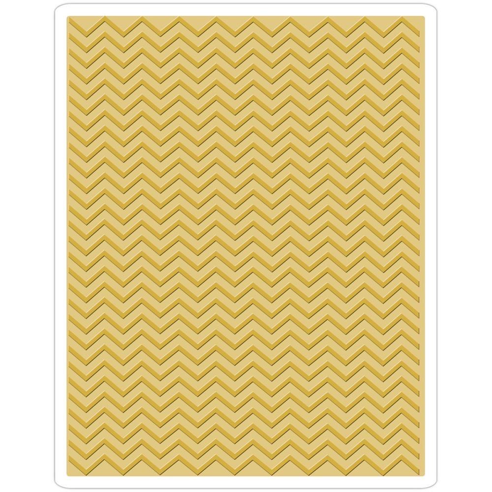 Placas De Texturizar Papel Chevron Sizzix