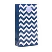Sacola Especial de Papel Zig Zag Azul Marinho 12 Unidades