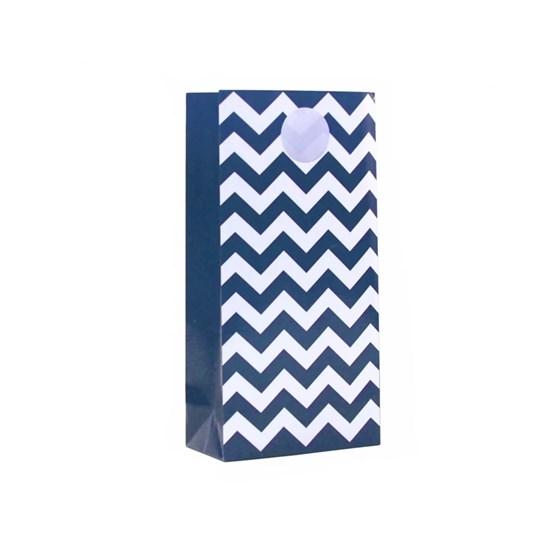 Sacola Especial de Papel Zig Zag Azul Royal 12 Unidades