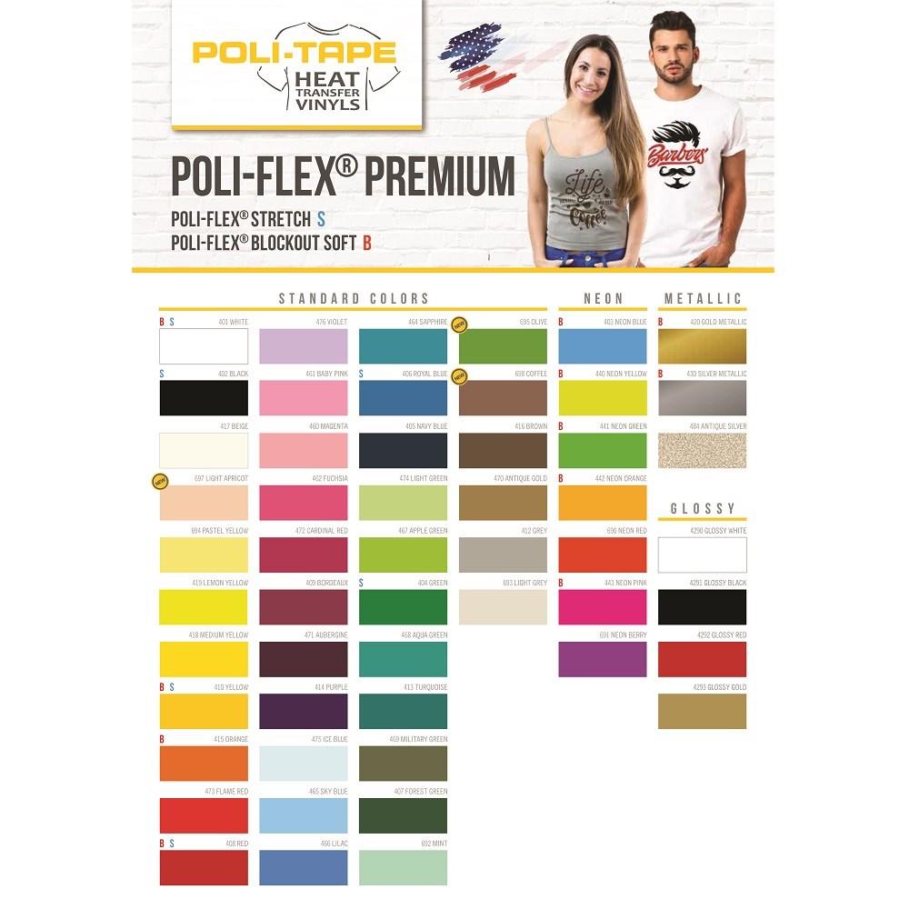 Termotransfer Poli-Tape Premium Amarelo 0,50x1m