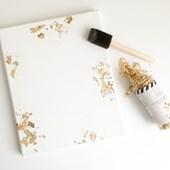 Textura Flocos Foil Metalizado Ouro Heidi Swapp