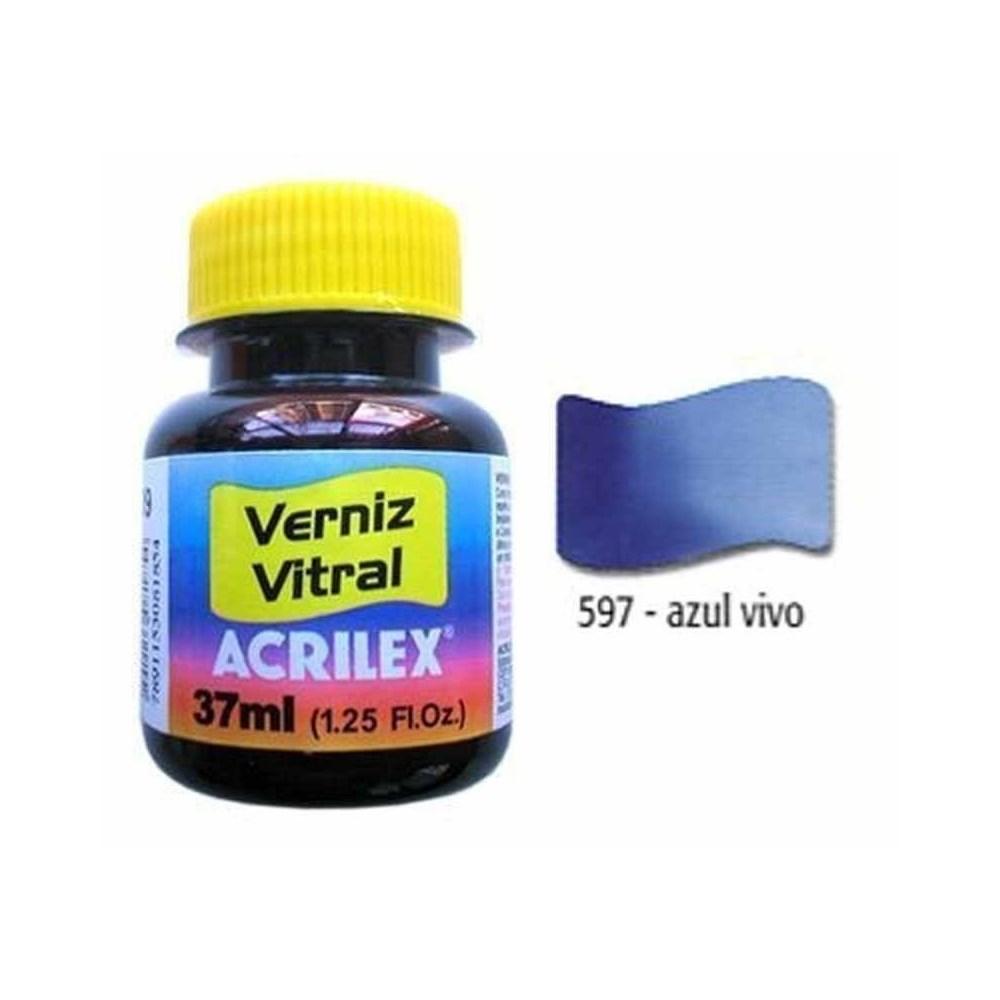 Tinta Verniz Vitral 37ml Azul Vivo